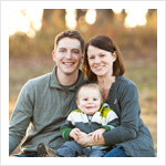 Outdoor family portrait in Woodstock IL at Emricson Park in the fall.