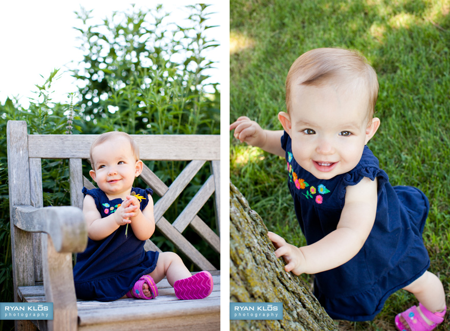 1-year-old Children's Portratis | Ryan Klos Photography, Woodstock, IL portrait photographer.
